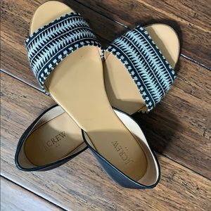 Jcrew black and white shoes